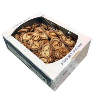 Печенье карамель сдобное Валентинки Северная столица Валентинки, 2,5 кг., картонная коробка
