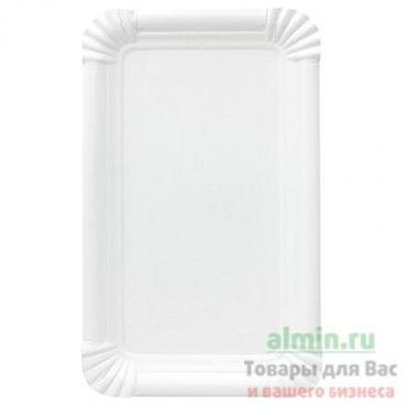 Тарелка бумажная 180х110 мм., эко картон белый 250 штук в упаковке, Papstar