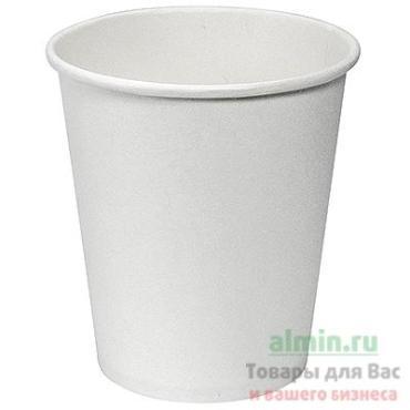 Стакан бумажный для горячих напитков 165 мл., 73 мм., 1-слойный белый Papperskopp