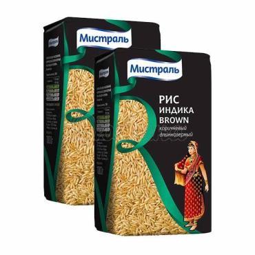 Рис Мистраль Индика Brown длинный 1 кг