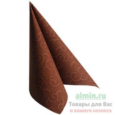 Салфетка Papstar royal casali бумажная коричневая 1-сл 50 шт/уп