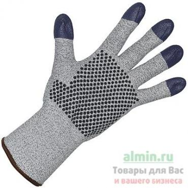 Перчатки рабочие 7 нитей с ПВХ точка, размер 9, G60 ХБ+Dyneema, серые Kimberly-Clark