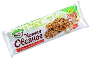 Печенье овсяное пять злаков Полет, 250 гр., флоу-пак
