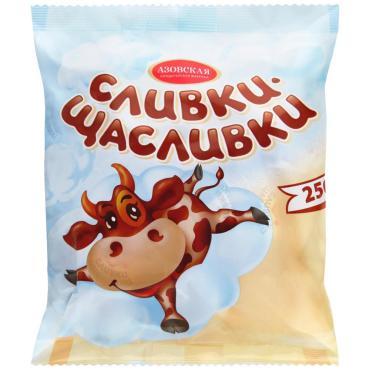Ирис молочный, Азовская кондитерская фабрика, Сливки щасливки, 4 кг., обертка фольга/бумага