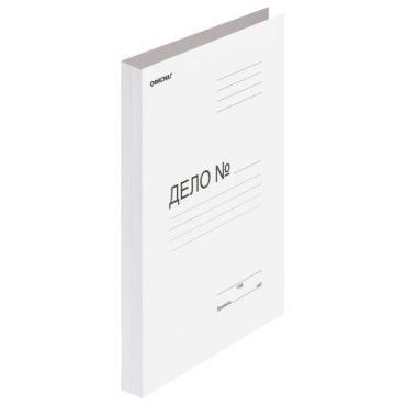 Скоросшиватель картонный, гарантированная плотность 280 г/м2, до 200 листов, Офисмаг