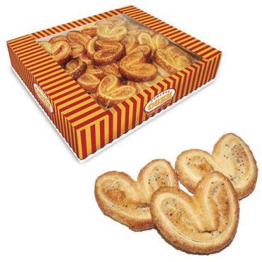 Печенье, ушки с маком и сахаром,  Мини-плюшки, Семейка Озби, 500 гр., картон