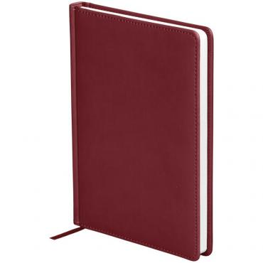 Ежедневник недатир. A5, 136л., кожзам, OfficeSpace Winner, бордовый