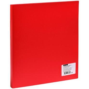 Папка на 4-х кольцах OfficeSpace, 40мм, 500мкм, красная