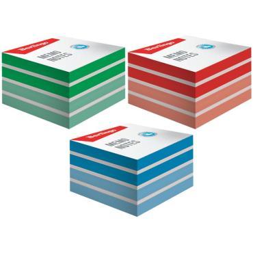 Блок для записи на склейке Berlingo Megatop, 9*9*4,5см, цветной
