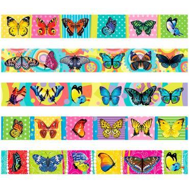 Закладка - магнит для книг, 25*200мм, ArtSpace Бабочки, блестки