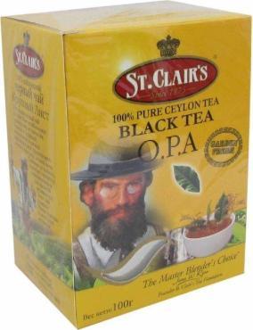 Чай чёрный крупнолистовой St.Clairs ОРА 100 гр