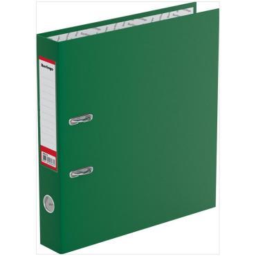 Папка-регистратор Berlingo Standard, 50мм, бумвинил, с карманом на корешке, зеленая