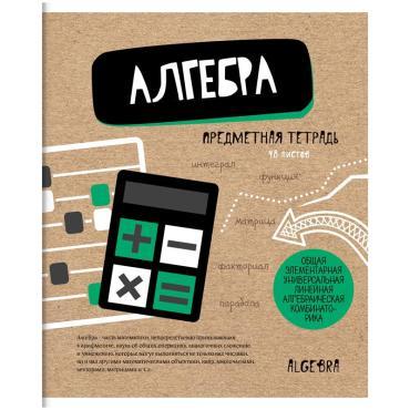 Тетрадь предметная 48л. ArtSpace Craft Book - Алгебра, ТВИН-лак