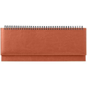 Планинг недатированный, 330*130мм, 56л., кожзам, OfficeSpace Nebraska, коричневый
