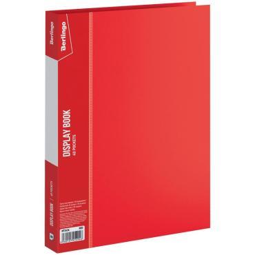 Папка с 40 вкладышами Berlingo Standard, 21мм, 600мкм, красная