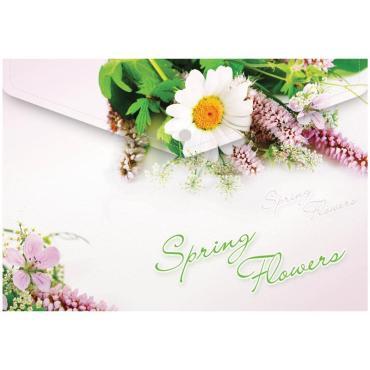 Папка-конверт на кнопке Berlingo Spring Flowers, А4, 180мкм, рисунок