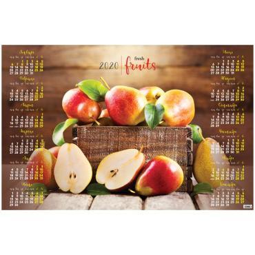 Календарь настенный листовой А1, OfficeSpace Фрукт, 2020г