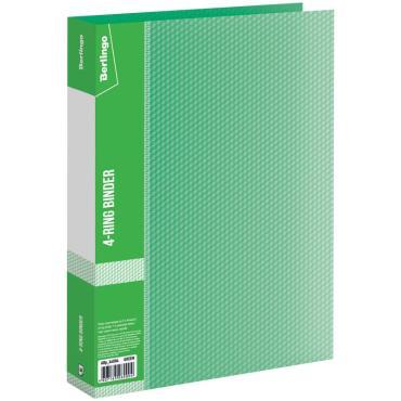 Папка на 4 кольцах Berlingo Diamond, 40мм, 700мкм, зеленая