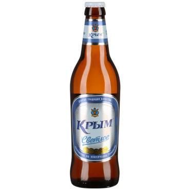 Пиво Крым Светлое фильтрованное пастеризованное 4,4% 0,5 л.