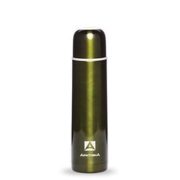 Термос зеленый бытовой вакуумный для напитков 750 мл. Арктика, 481 гр., картонная коробка