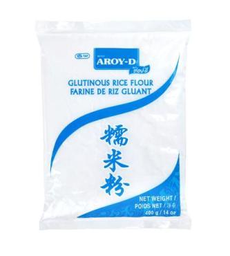 Мука рисовая клейкая Aroy-D, 400 гр., пластиковый пакет