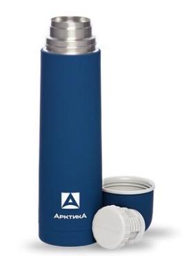Термос питьевой бытовой вакуумный синий 750 мл. Арктика, 481 гр., картонная коробка