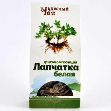 Лапчатка белая корень сушеный Чудесный чай, 50 гр., картонная коробка