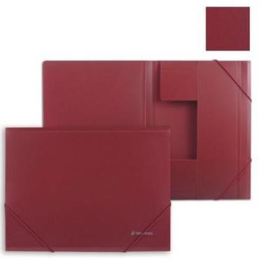 Папка на резинках стандарт, красная, до 300 листов, 0,5 мм., Brauberg, 110 гр., пластиковый пакет