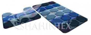 Набор ковриков для ванны, 60х100 см., и 60х50 см., фиолетовый, Shahintex РР MIX 4K, 2.5 кг., пластиковый пакет