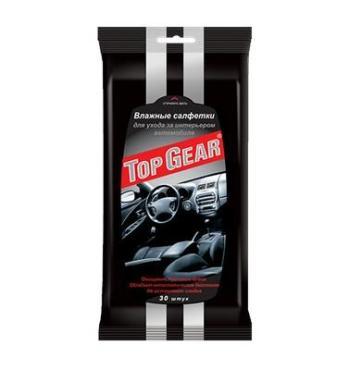 Влажные салфетки для салона, Top Gear №30, Флоу-пак