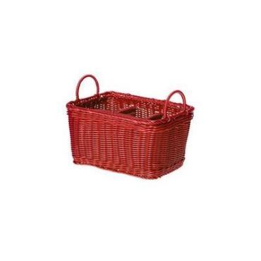 Корзина пластиковая 26х19х14/20 см., красный JQ-1198