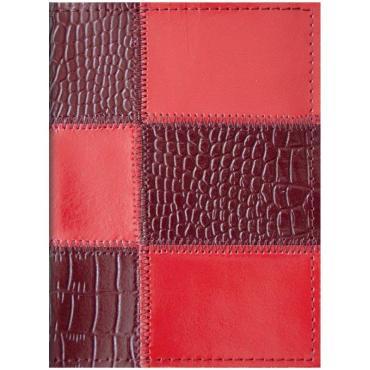 Обложка для паспорта OfficeSpace кожа Рatchwork, ассорти