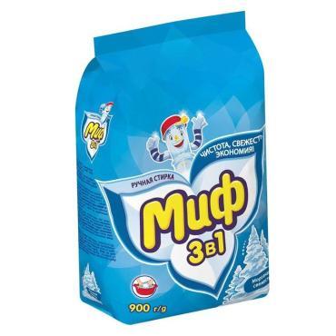 Стиральный порошок, Миф Морозная свежесть, 900 гр., пластиковый пакет