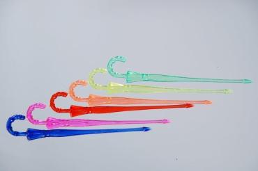 Пика Зонтик 90 мм., цветные, 300 шт., Мистерия, 150 гр., пластиковый пакет