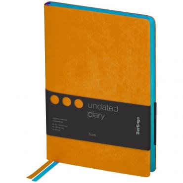 Ежедневник недатир. A5, 136л., кожзам, Berlingo Fuze, цветной срез, оранжевый