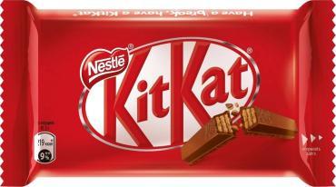 Шоколадный батончик молочный, с хрустящей вафлей KitKat, 41,5 гр., флоу-пак