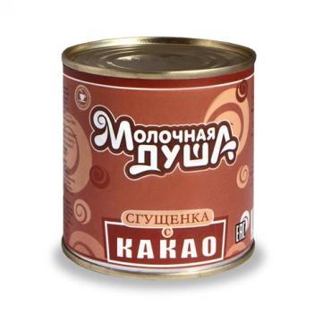 Сгущенное молоко с какао Молочная душа, 370 гр., жестяная банка