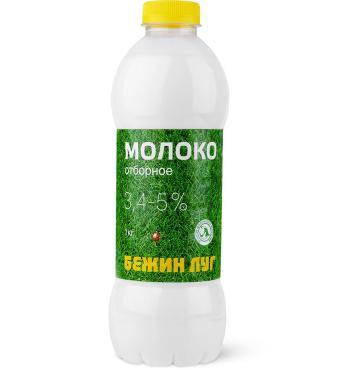 Молоко 3,4-5% Бежин луг, 1 л., ПЭТ