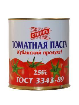 Томатная паста СТОЕВЪ, 3000 гр., жестяная банка