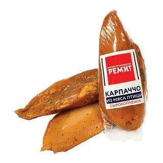 Карпаччо из мяса птицы с/к в/у Ремит, 150 гр., вакуумная упаковка