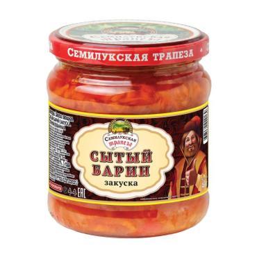 Закуска овощная, Семилукская трапеза Сытый барин, 460 гр., стекло