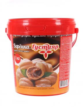Сгущенка вареная с сахаром варенка, ж. 8,5%, Густияр, 1 кг., пластиковое ведро