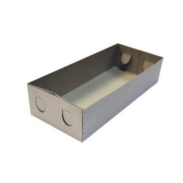Коробка для пирожных ДНО 0,4 кг белая с рис 275х120х60, Рандеву, 200 шт/уп