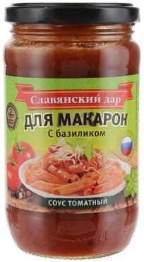 Соус томатный для макарон, С базиликом Славянский Дар, 360 гр., стекло