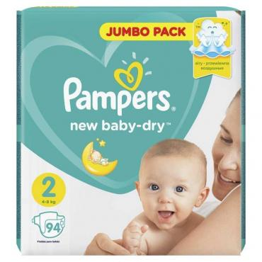 PAMPERS Подгузники New Baby-Dry Mini (3-6 кг) Упаковка 94