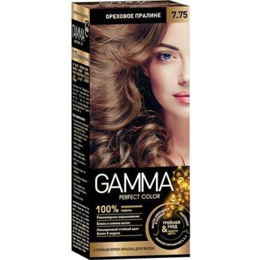 Крем-краска для волос 7.75 Ореховое пралине, Gamma Perfect Color, 100 мл., картонная коробка