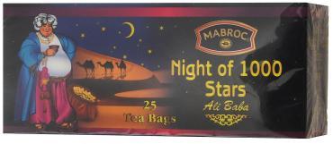 Чай черный в пакетиках, 25 шт., Mabroc Древние легенды Ночь 1000 звезд, 50 гр., картонная коробка