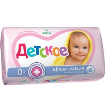 Крем-мыло детское увлажняющее с овсяным молочком Весна, 90 гр., бумажная упаковка