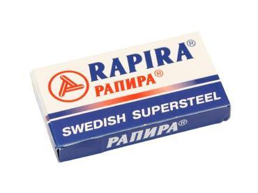 Сменные кассеты для бритв двусторонние классические, Rapira, 10 гр., картонная коробка