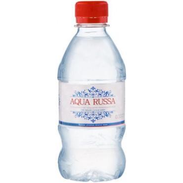 Вода газированная минеральная Aqua Russa, 330 мл., пластиковая бутылка